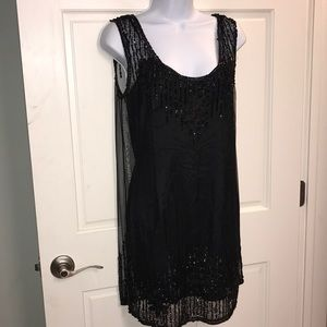 ROARING 20's style Gorgeous sequined black dress.